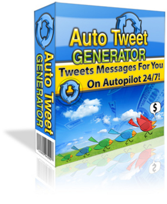 Product picture Auto Tweet Generator with MRR